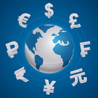 Global economy design.