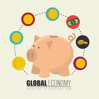 Global economy,money and business