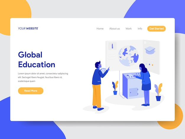 Global education illustration for web pages