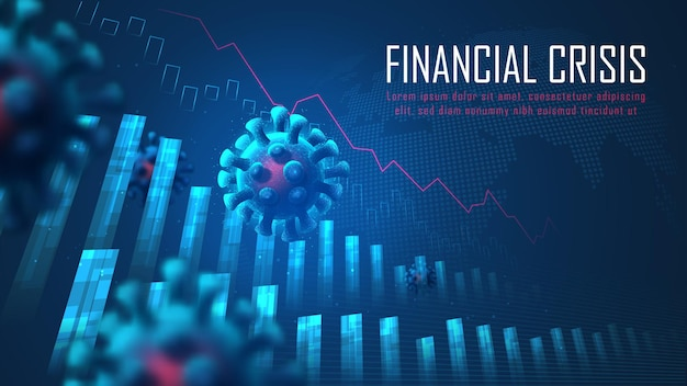 Глобальный финансовый кризис от концепции вирусной пандемии, подходящей для финансовых вложений