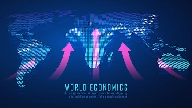 グラフィックコンセプトのグローバル金融
