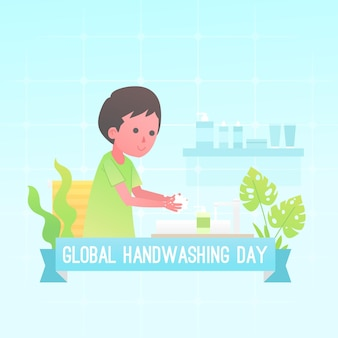 Global handwashing day concept