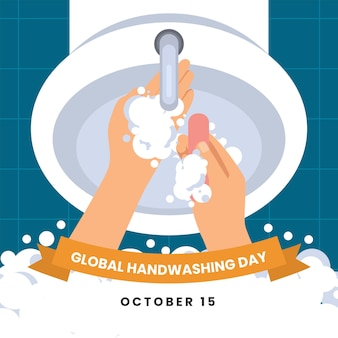 Иллюстрация события всемирного дня мытья рук