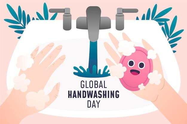 Illustrazione di giorno di lavaggio delle mani globale