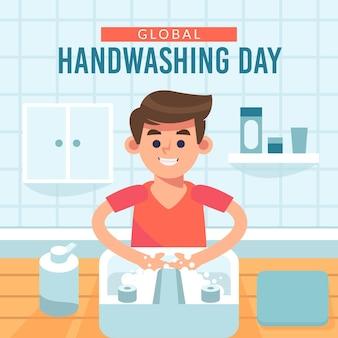 Tema del giorno del lavaggio delle mani globale