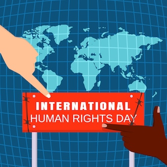 Global human rights day concept , flat style