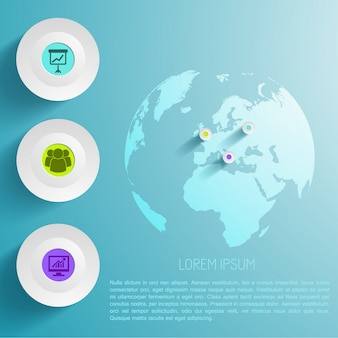 Global infographic template