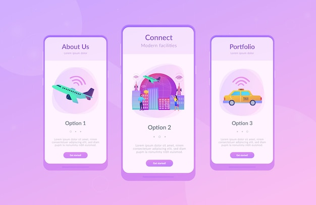 Global internet of things smart city app interface template