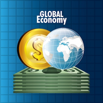 Global market and stock exchange