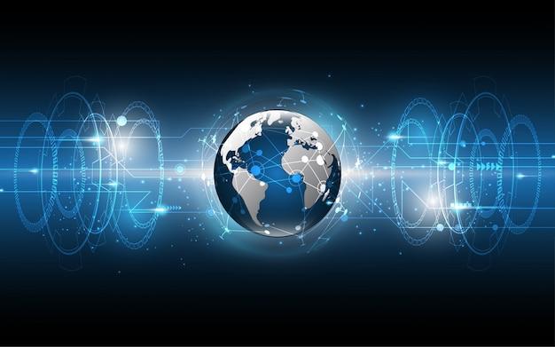 Глобальная сетевая связь абстрактный фон технологии
