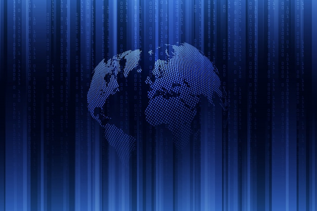 Глобальная сеть связи. бизнес-концепция и интернет-технологии. технология фон.