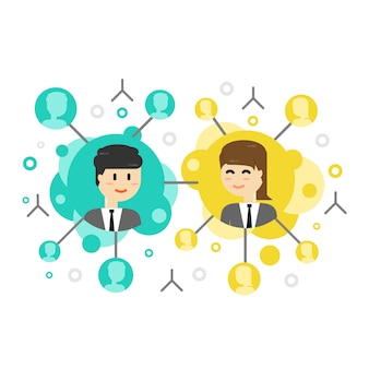 Global network connection, connecting people. social network