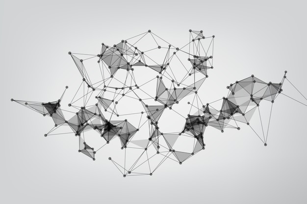 Global network connection. geometric connected. background technology connecting dots and line.