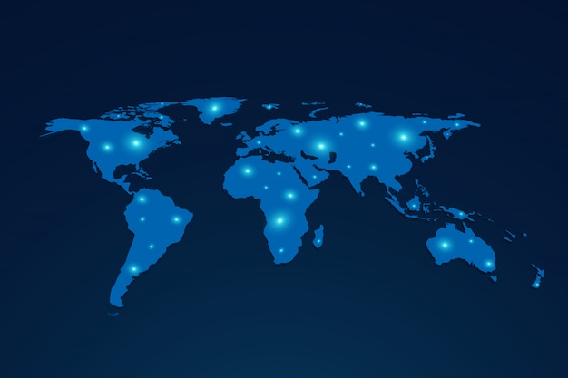 Global network connection people. social network concept. business. internet.3d world map