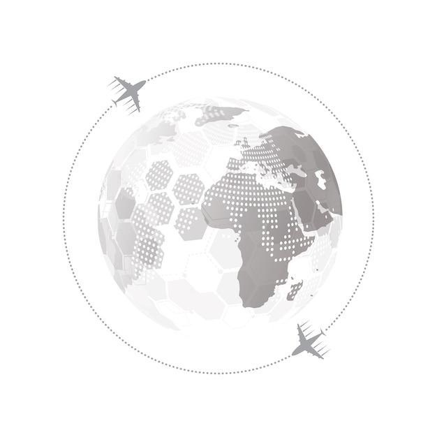 Глобальное сетевое соединение с концепцией бизнес-плоскости