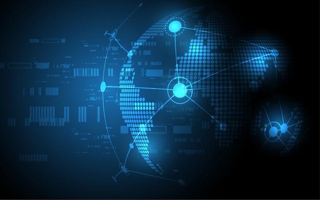 Глобальное сетевое соединение карта мира аннотация технология фон глобальный