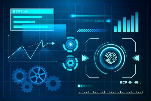 Tecnologia futuristica della rete globale
