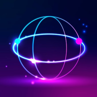 Global network icon in purple tone