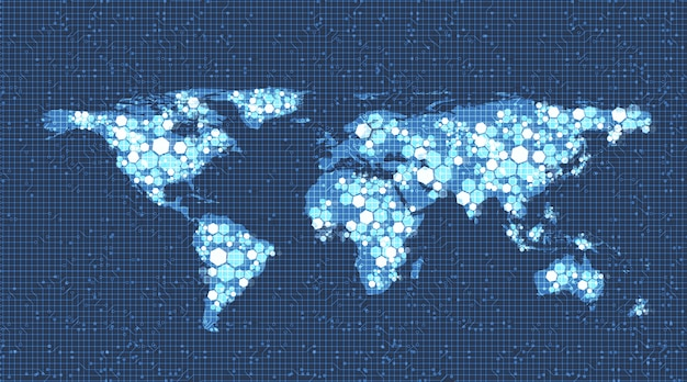 Global network system technology background