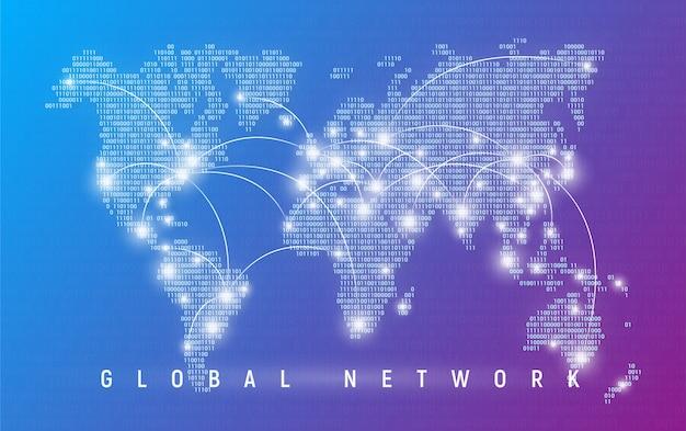Глобальная сеть, связь и связь по всему миру, интернет
