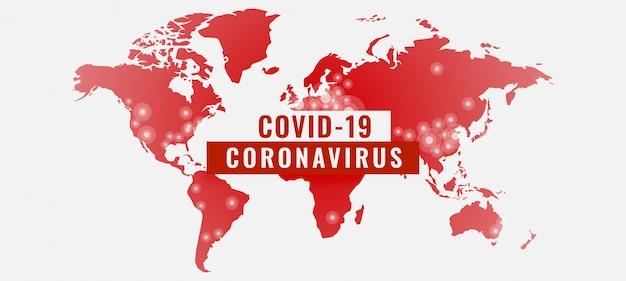 코로나 바이러스 covid-19 전염병 배너의 글로벌 폭발