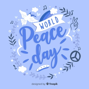 Global peace day lettering