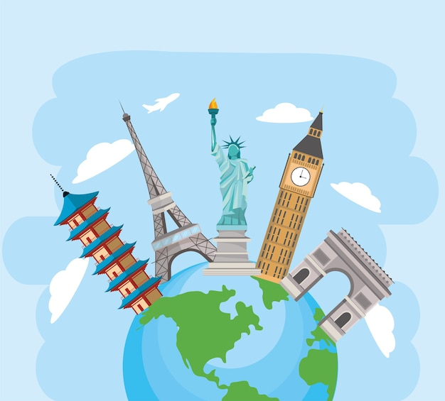 Global planet and fun towers travel