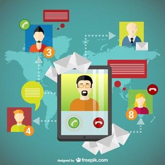 グローバルな社会ネットワークのユーザー