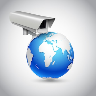 Global surveillance concept