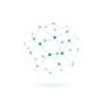 Global technology or social network icon.
