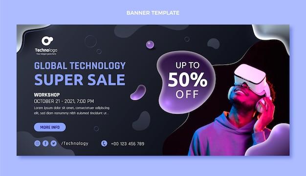 Globaltechnology super sale banner template