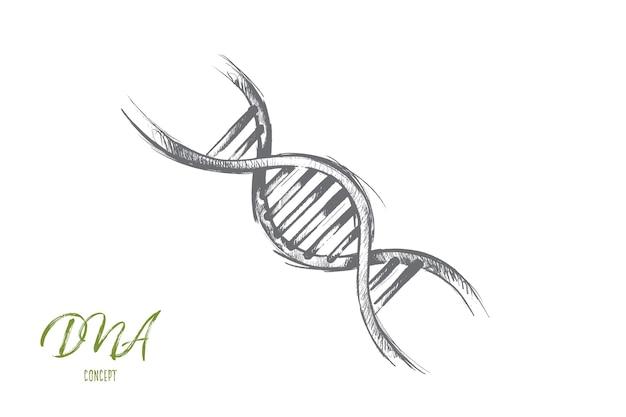 Концепция глобального потепления. рисованной иллюстрации структуры молекулы днк. изолированная иллюстрация генетических и химических исследований.