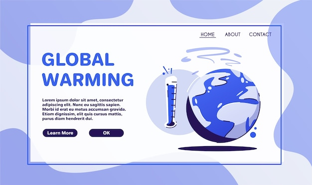 Global warming concept. sticker or logo. zero waste. climate change. planet earth