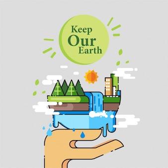 Плакат с иллюстрациями global warming