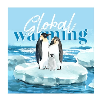 Global warming and pollution. poster flyer brochure advertising campaign, save the world template