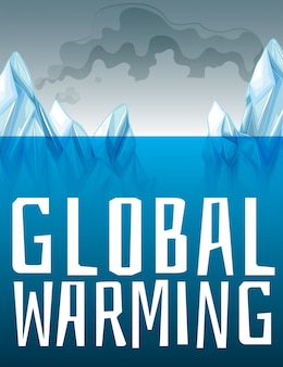 Знак глобального потепления с таянием льда