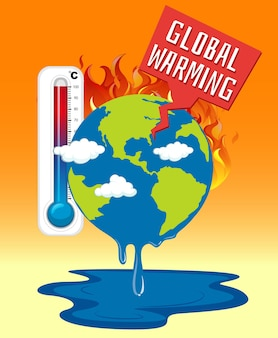 地球が燃えている地球温暖化