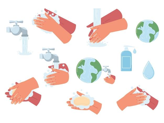 Плоский набор для мытья рук