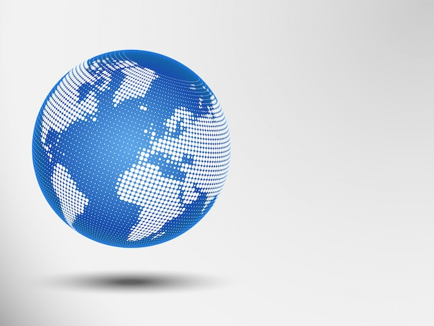 Globe abstract dots. vector illustration of a world map. eps 10