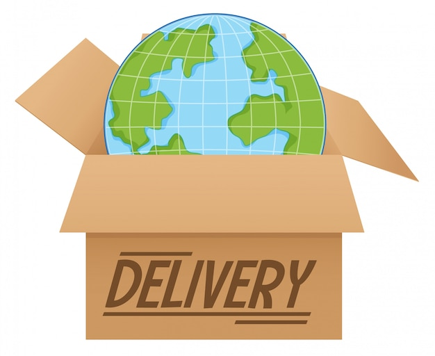 The globe in the box delivery