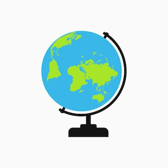 地球のアイコン。ロゴのテンプレート。ベクトルイラスト。