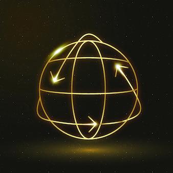 Globe icon vector environmental conservation symbol