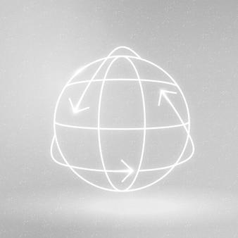 Simbolo di conservazione ambientale di vettore dell'icona del globo