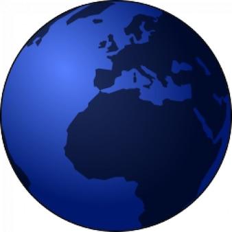 Globe in blue tones