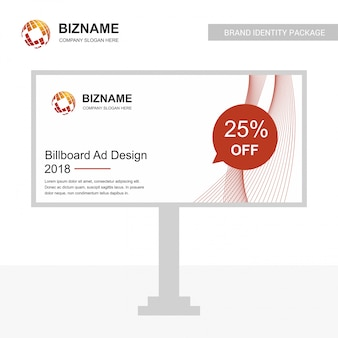 Globe logo and billboard ad design