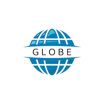 Globe logo design template