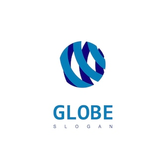 Шаблон дизайна логотипа глобус