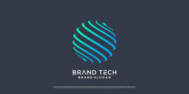 Globe logo design with modern technology concept premium vector part 1