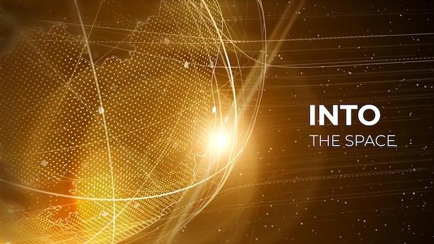 グローブネットワークイラストテクノロジーデジタル3dグローブデジタル地球地図の背景