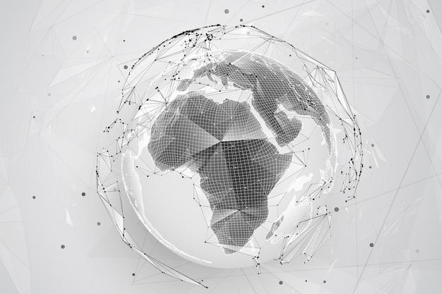 地球、地球、点から。コンセプトビッグデータ、処理およびデータ収集